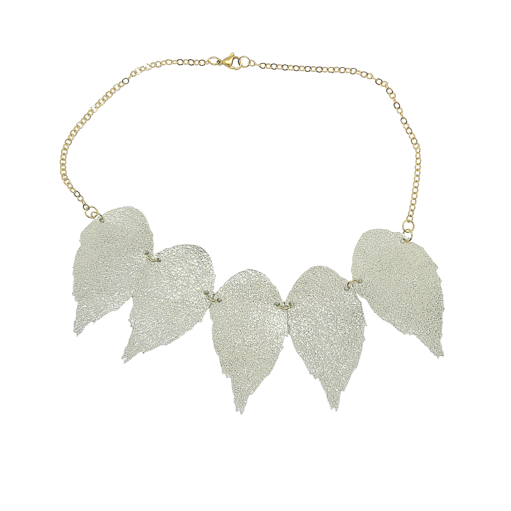 The Duilleog Collection 5 Leather Leaf Necklace