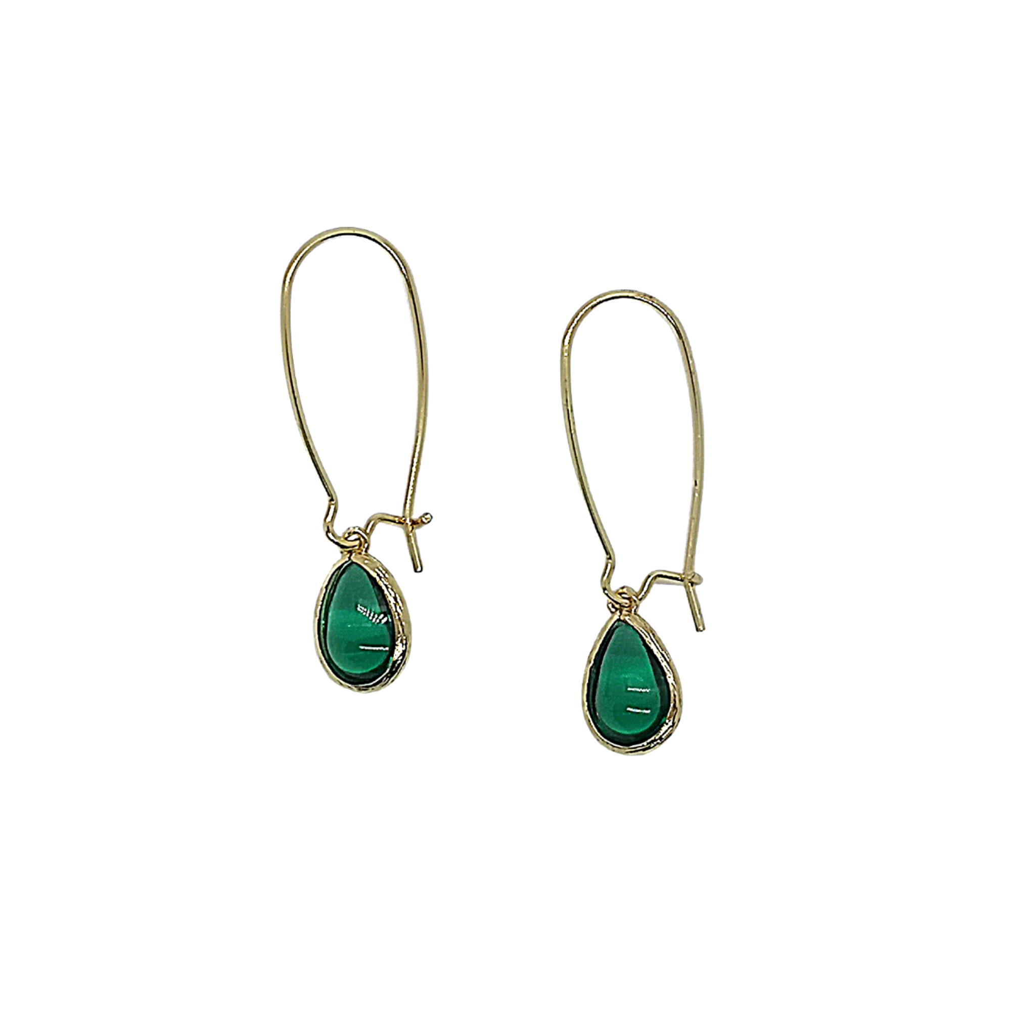 Brass Collection Green Earrings