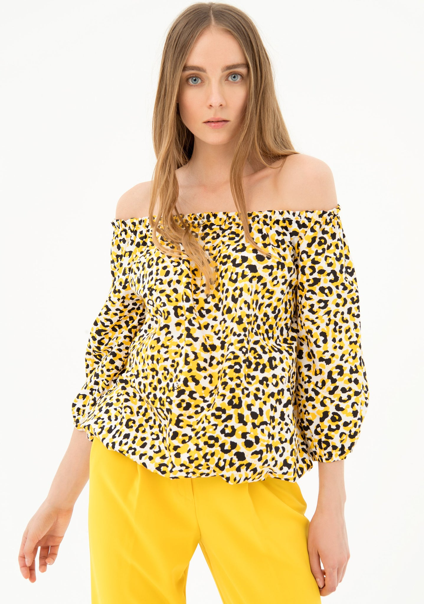 Top Leopardo Amarillo