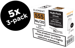 555 Tobacco Ns/20 20mg Nic. 5-Pack Pods