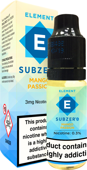 Subzero Mango Passion Dripper e-Liquid 10mL 10-pack