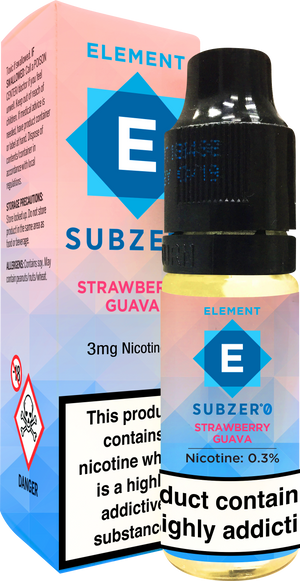 Subzero Strawberry Guava Dripper e-Liquid 10mL 10-pack