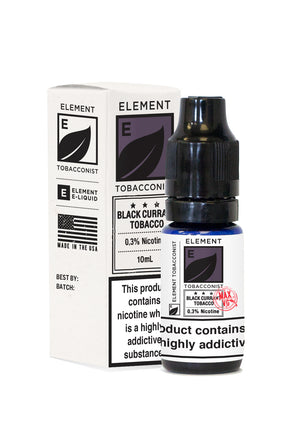 Element Tobacconist Black Currant Dripper e-Liquid 10mL 10-pack