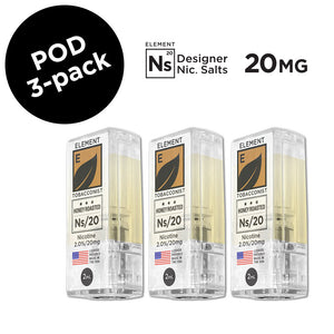 Honey Roasted Tobacco Ns/20 20mg Nic. 3-Pack Pods