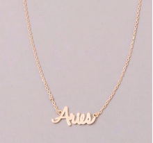 Load image into Gallery viewer, Zodiac Name Necklaces