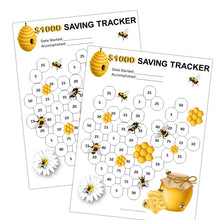 Load image into Gallery viewer, Busy Honey Bees Money Saving Goal Trackers