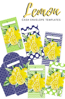 6 Lemon Vertical Cash Envelopes