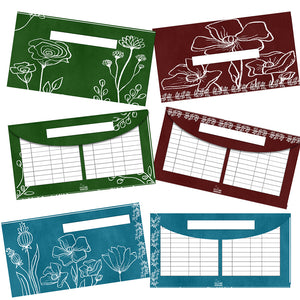 August Floral Cash Envelope Printables