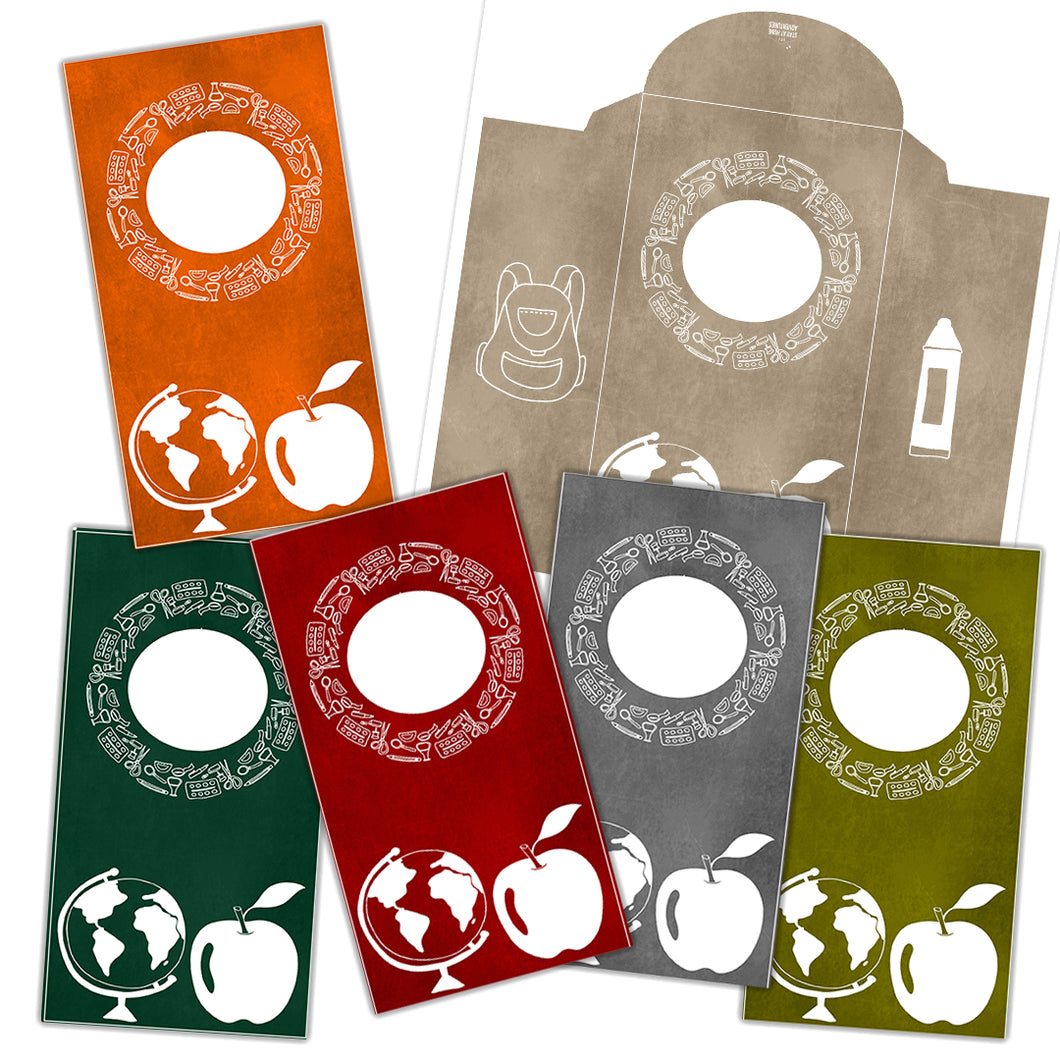 6 Back to School Vertical Cash Envelopes