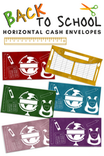 Load image into Gallery viewer, Back To School Cash Envelopes - Horizontal