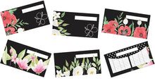 Load image into Gallery viewer, Floral Black Cash Envelopes Printables