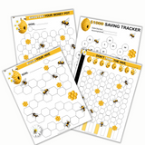 Busy Honey Bees Money Saving Goal Trackers