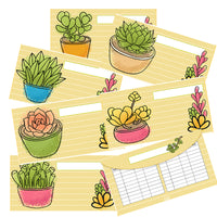 6 Succulent Cash Envelopes