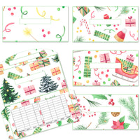 5 Christmas Theme Cash Envelopes (Set 1)