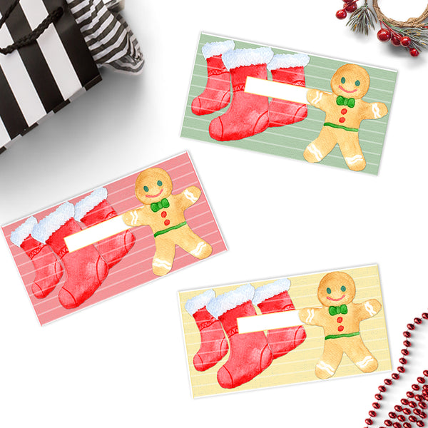 Christmas Stockings Cash Envelopes