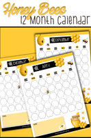 Busy Honey Bees 12 Month Calendars