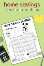 Load image into Gallery viewer, House Savings Tracker Printable