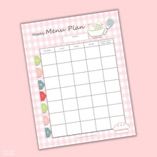Load image into Gallery viewer, Meal Planning Printable Sheets (4 Sheets)