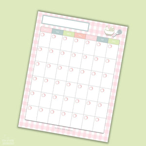 Meal Planning Printable Sheets (4 Sheets)