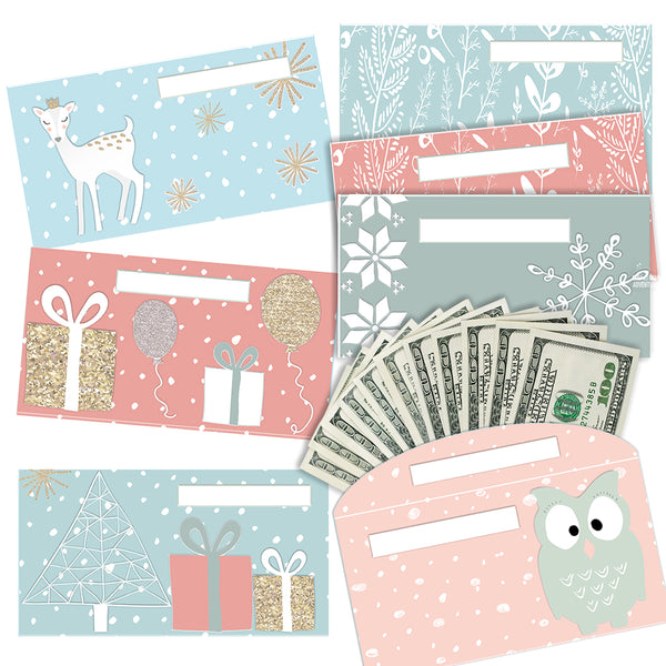 My Winter Cash Envelopes (7 Different Designs)
