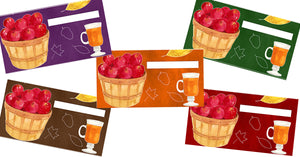 September Autumn Apple Cash Envelopes Printables