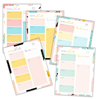 5 Weekly To-Do List Sheets - Fruit Theme