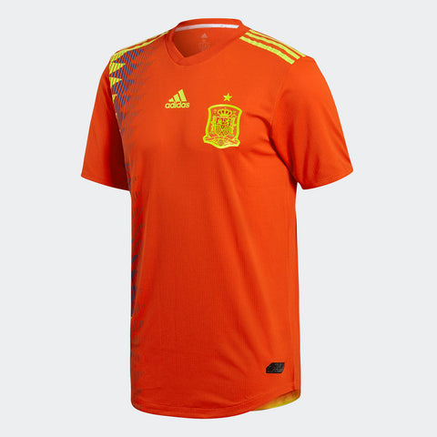 2018 World Cup Authentic Spain Home Jersey