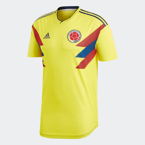 2018 World Cup Authentic Colombia Home Jersey