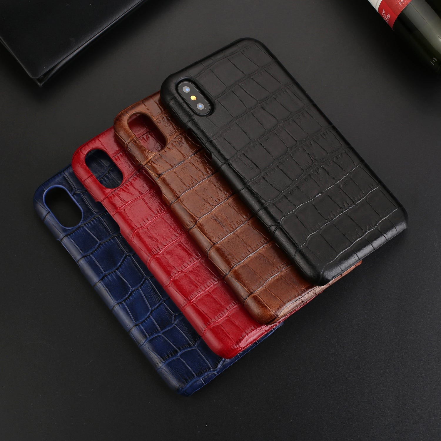 cheap for discount 0b4f8 11a21 Genuine Leather Ultra Slim Crocodile Skin Pattern Case For iPhone X