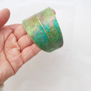 Bronze and patina bracelet