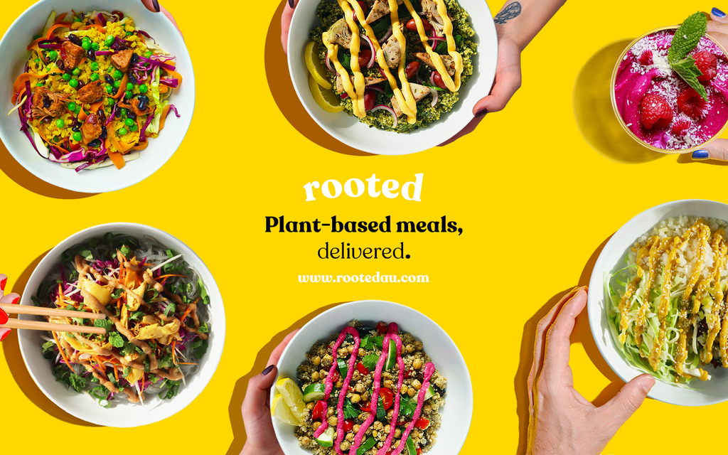 Rooted delivers delicious plant-based meals with zero waste packaging
