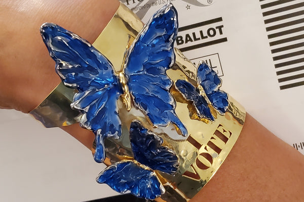 The I VOTE butterfly cuff