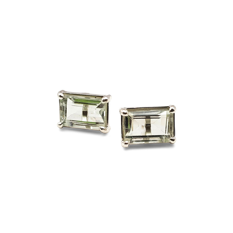 Medium emerald cut studs