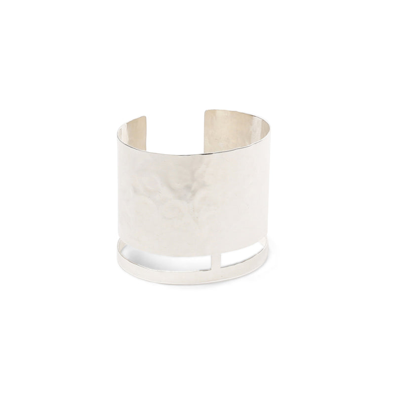 Sterling hammered cuff bracelet