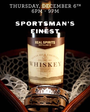 Leather, Wood, and Whiskey Trunk Show at Sportsman's Finest