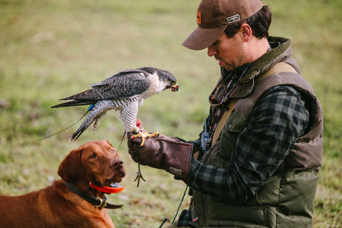 Adam Hein from On The Fly Outfitters with Falcon
