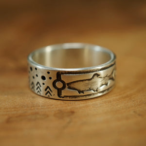 Trout 2.0 Stars & Trees - Sterling Silver Ring
