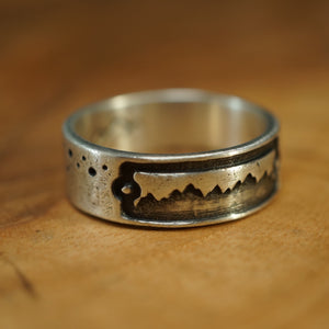 Tectonic Rush Stargazer Ring - Sterling Silver
