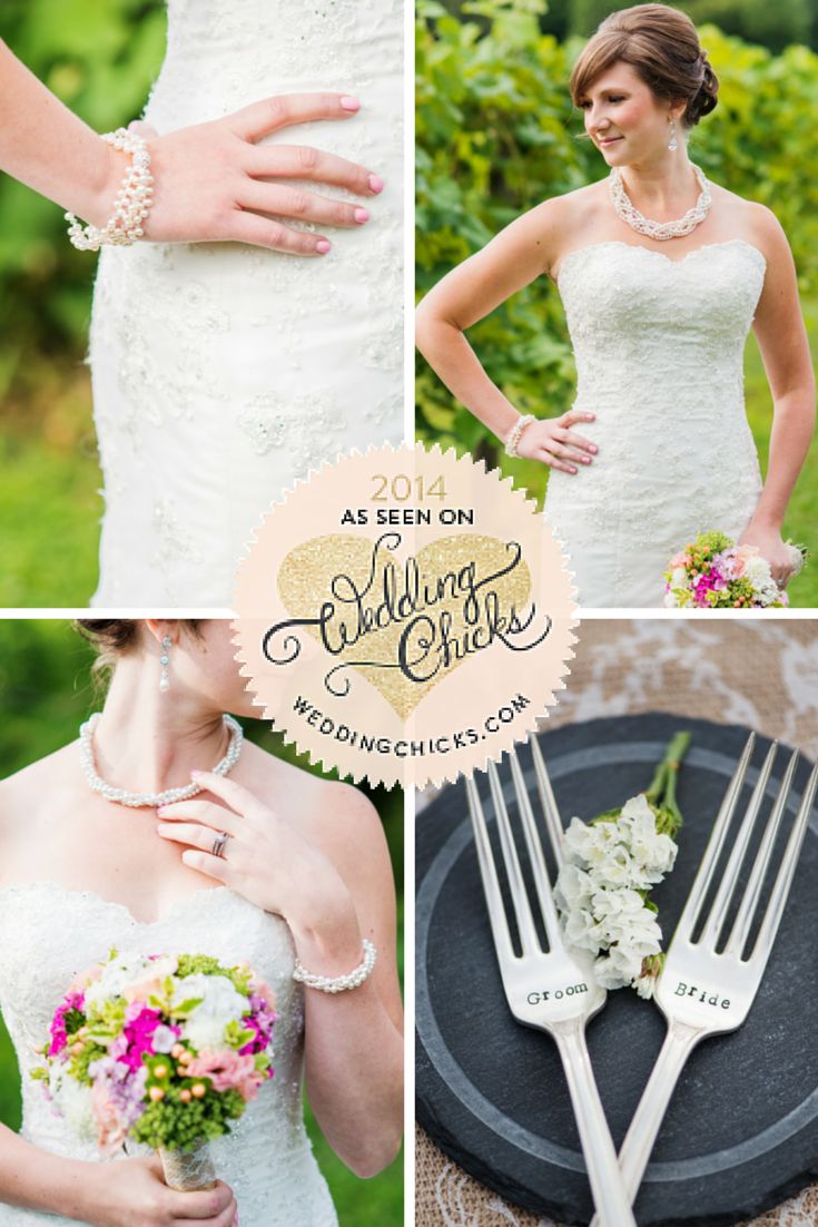 Shabby chic wedding // pearl wedding jewelry // click for details