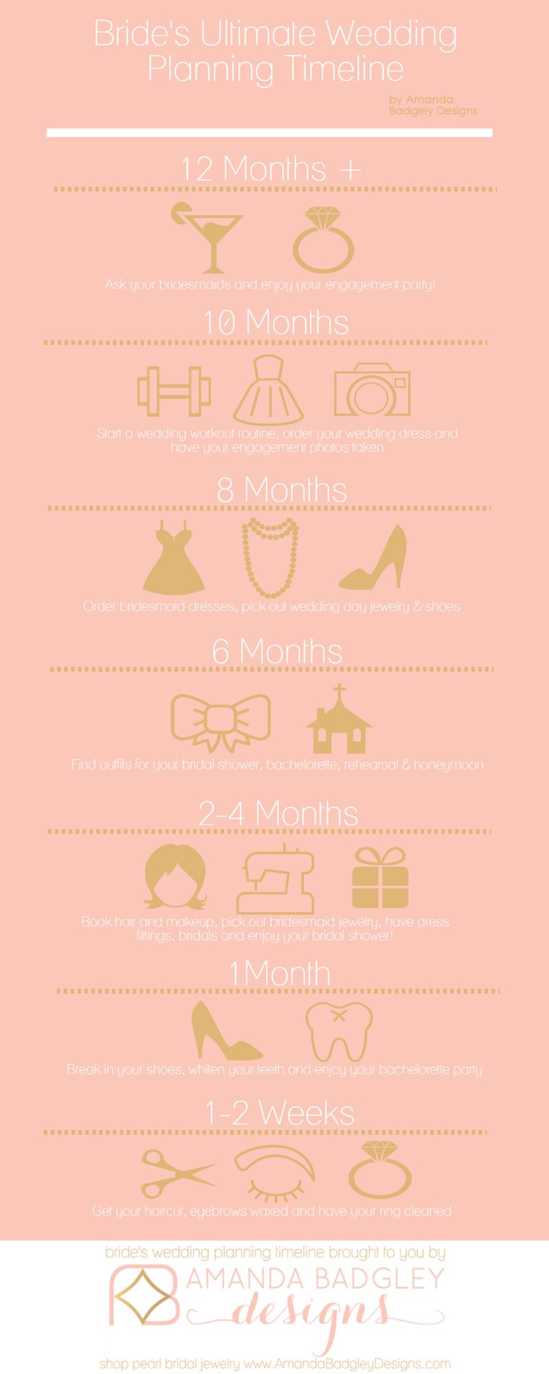 Find Out How To Plan A Wedding With Our Bride's Wedding Planning Timeline