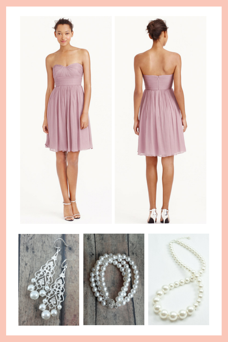 Not sure what jewelry goes with your bridesmaid dress? Click for bridesmaid style advice...