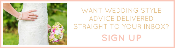 Sign up for wedding style advice from Amanda Badgley Designs