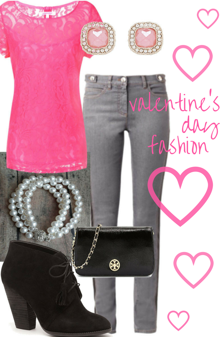 Valentine's outfit idea // Valentine's fashion for women // Click for outfit details...