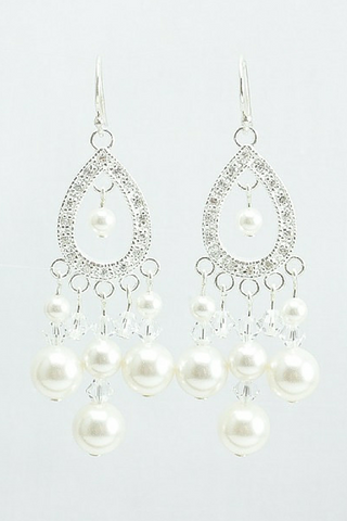 Sophia Earrings // Teardrop Crystal Chandelier Earrings / Bride Jewelry / Wedding Jewelry