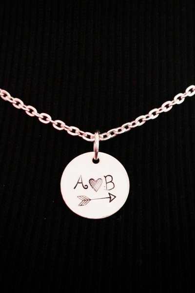 Couple Necklace / Love Necklace / Boyfriend Necklace / Couples Initial