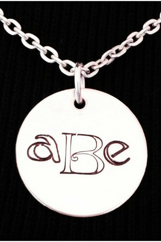 Monogrammed Necklace / Monogram Jewelry / Silver Initial Necklace