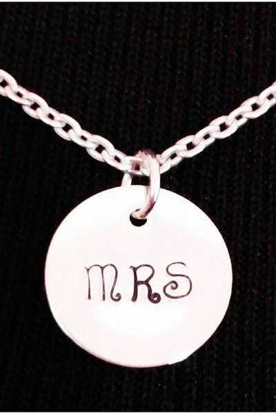 Mrs Necklace / Bride Jewelry / Engagement Gift / Bridal Shower Gift