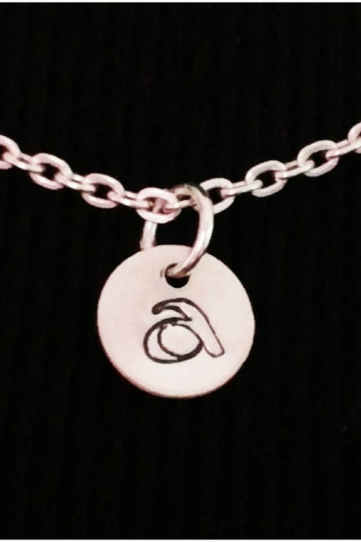 Initial Necklace / Monogram Necklace/ Stamped Sterling Silver Charm