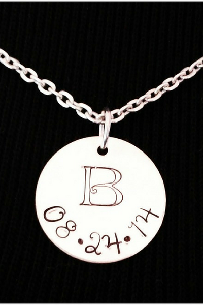 Wedding Gift Idea / Wedding Date Charm / Gift For the Bride / Monogram