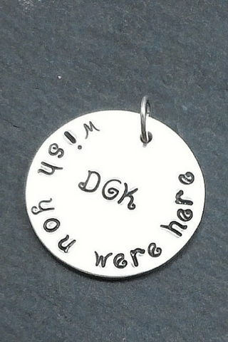 Memorial Charm / Wedding Bridal Charm / Wish You Were Here Mom Dad